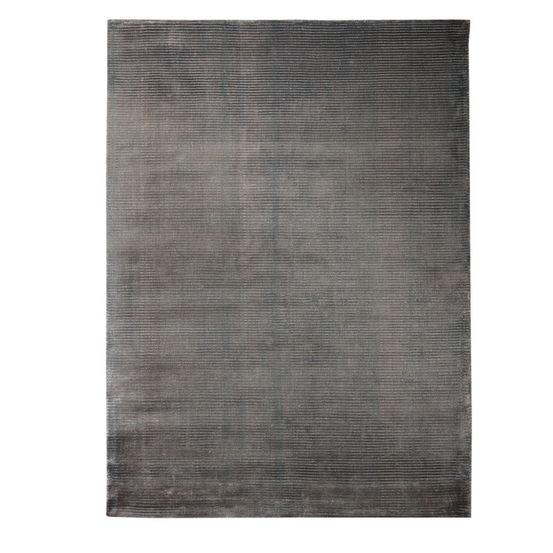 tapis tiss main bleu et gris mirage home spirit 170x230. Black Bedroom Furniture Sets. Home Design Ideas