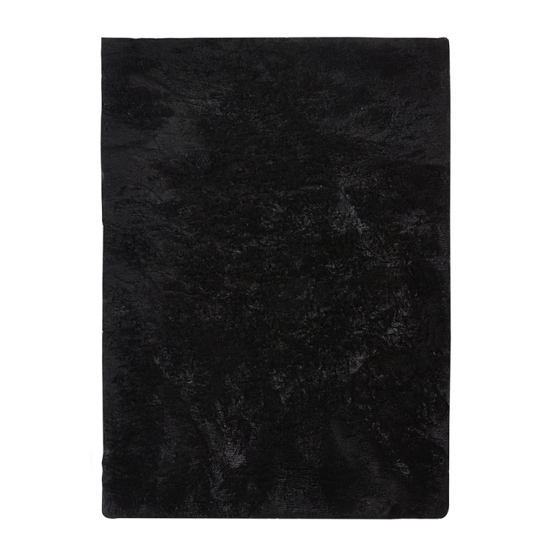 tapis shaggy noir home spirit vision 200x300. Black Bedroom Furniture Sets. Home Design Ideas