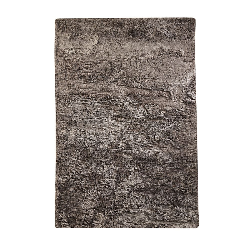 tapis shaggy taupe vision home spirit 170x230. Black Bedroom Furniture Sets. Home Design Ideas