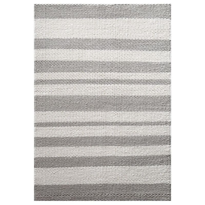 Tapis Moderne Gris Taupe Et Blanc Breeze Down To Earth 130x190