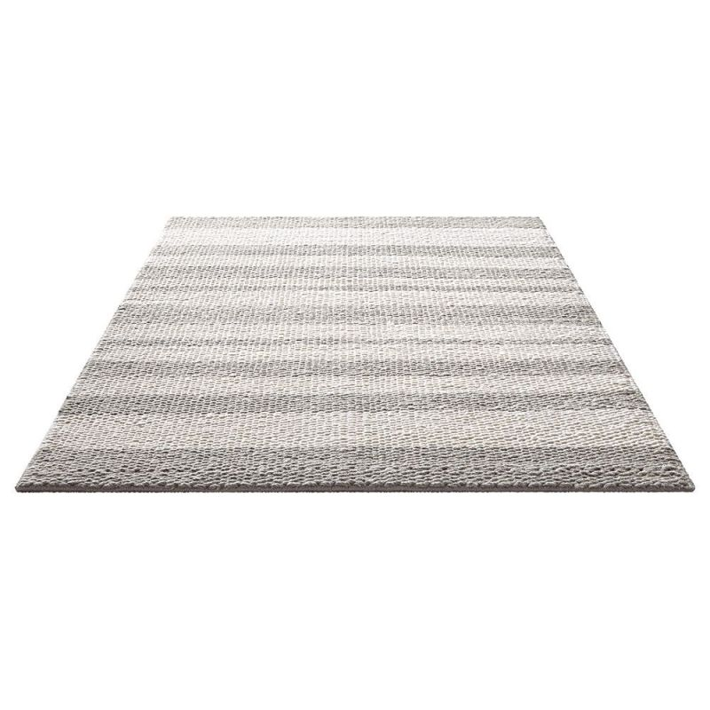 Tapis moderne breeze gris taupe et blanc down to earth 160x230 Tapis gris et blanc
