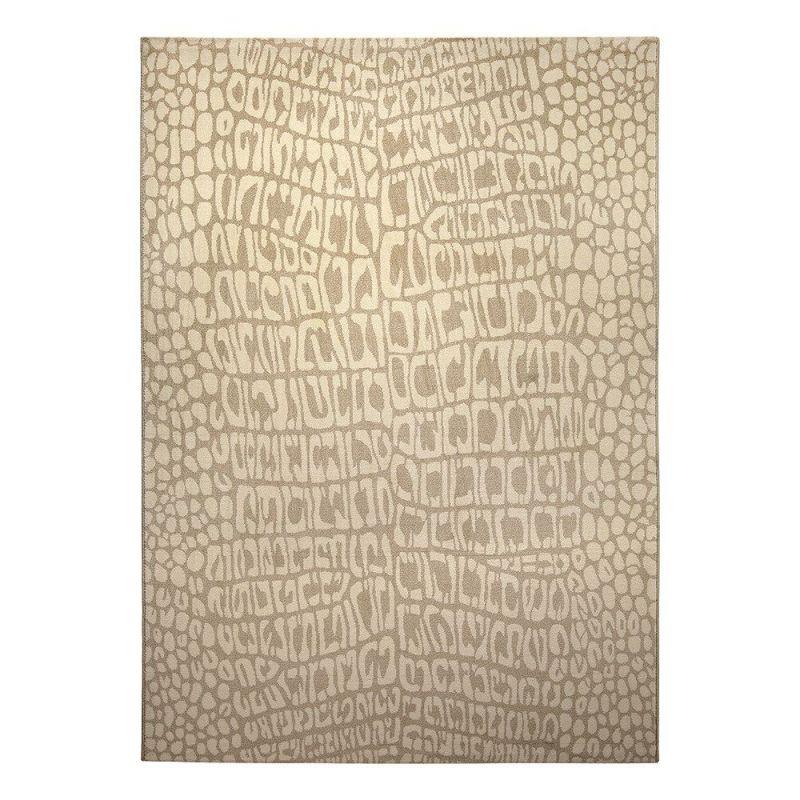 tapis moderne croco beige wecon 80x150. Black Bedroom Furniture Sets. Home Design Ideas