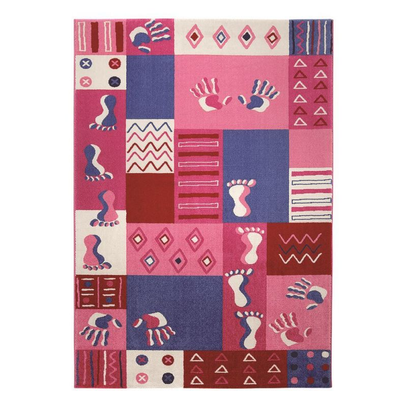 Carrelage Design tapis rose pale : Tapis enfants u0026gt; Tapis enfant rose Hands and Feet Wecon