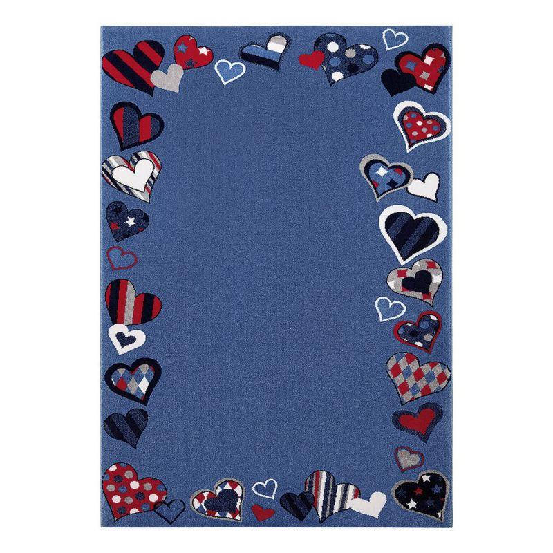 tapis enfant bleu just hearts wecon 120x170. Black Bedroom Furniture Sets. Home Design Ideas