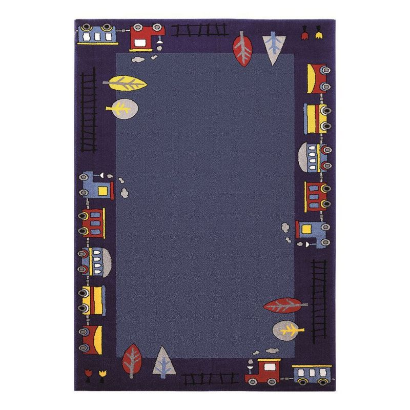 Carrelage Design tapis garcon : Tapis enfants u0026gt; Tapis garu00e7on bleu Funny Train Wecon