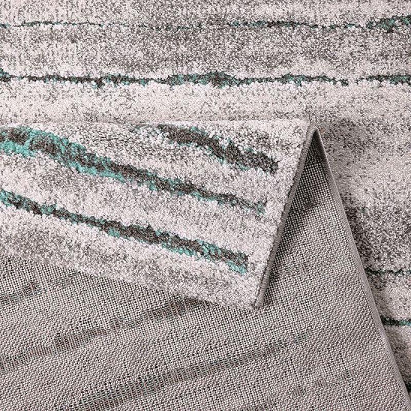 tapis moderne marron et bleu wecon woodland 80x150. Black Bedroom Furniture Sets. Home Design Ideas