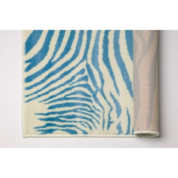 Lorena Canals Tapis En Acrylique Motif Zébré Bleu Zebra Blue A Z