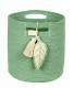 panier en coton leaf green - lorena canals