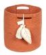 panier en coton leaf terracota - lorena canals