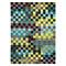 tapis pixel moderne bleu et vert esprit home