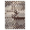 tapis pixel marron et beige moderne esprit home