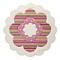 tapis flower shape rond beige esprit home