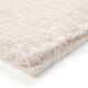 tapis esprit home shaggy corn carpet écru
