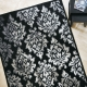 tapis en laine noir carsousel the rug republic