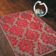 tapis en laine rouge carsousel the rug republic