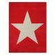tapis enfant en laine star rouge lorena canals
