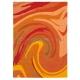 tapis action painting orange arte espina