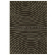 tapis marron arte espina zen tufté main