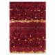 tapis mosaic rouge arte espina en laine et viscose