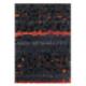 tapis mosaic anthracite arte espina en laine et viscose