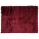 tapis à poils longs lea rouge