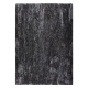 tapis shaggy tufté main wild anthracite