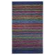 tapis de bain cool stripes bleu esprit home