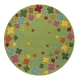 tapis bloom field vert esprit home