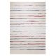 tapis joyful stripes blanc et bleu esprit home