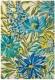 tapis floreale marine harlequin - avalnico