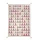 tapis pour enfant art for kids triangle rose tissé main en laine