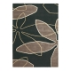 tapis xian leaf anthracite brink & campman tufté main